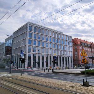 Biurowiec Nowy Targ- widok elewacji tylnej