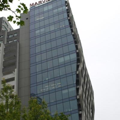 Zdjęcie Prosta Tower w Warszawie-widok z boku